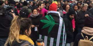 #Trump420: Protesters Queue in Long Lines to Receive Free Marijuana Before Inauguration