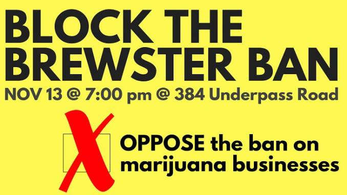 Massachusetts Vote NO On The Brewster Cannabis Business Ban